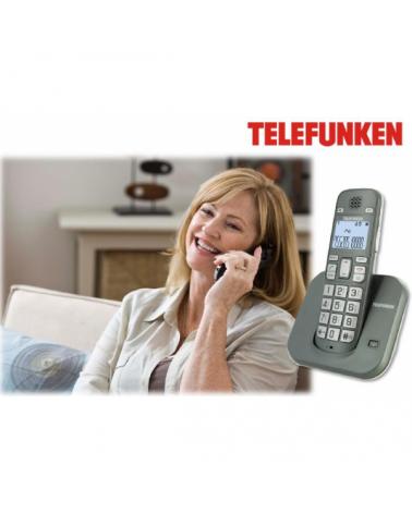 TELEFONO INALAMBRICO TECLAS ANCHAS COMPATIBLE CON AUDIFONOS