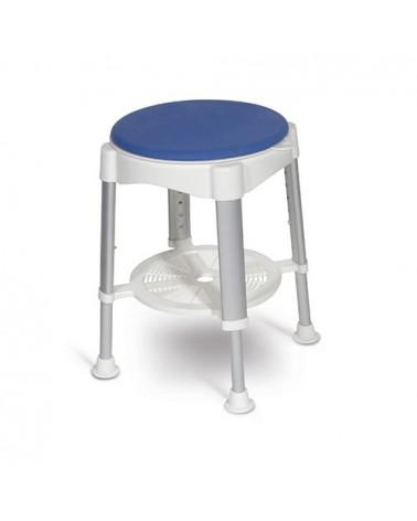 Taburete de ducha TAHAA, asiento giratorio Hexaplus DUPSA2112005