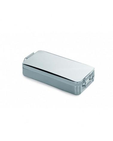 CONTENEDOR TAPA C/ASA Y CIERRE. AC/INOX 18/10 220X120X(H)60 ACE10011