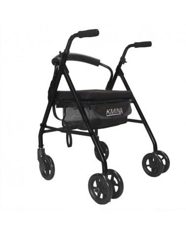 rollator KMINA confort con freno de presión negro