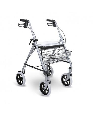 andador rollator de 4 ruedas con asiento