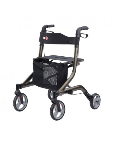 Andador de 4 ruedas color platino