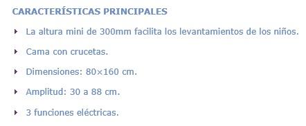 FICHA CAMA PULGARCITO WINCARE IPO2L08100